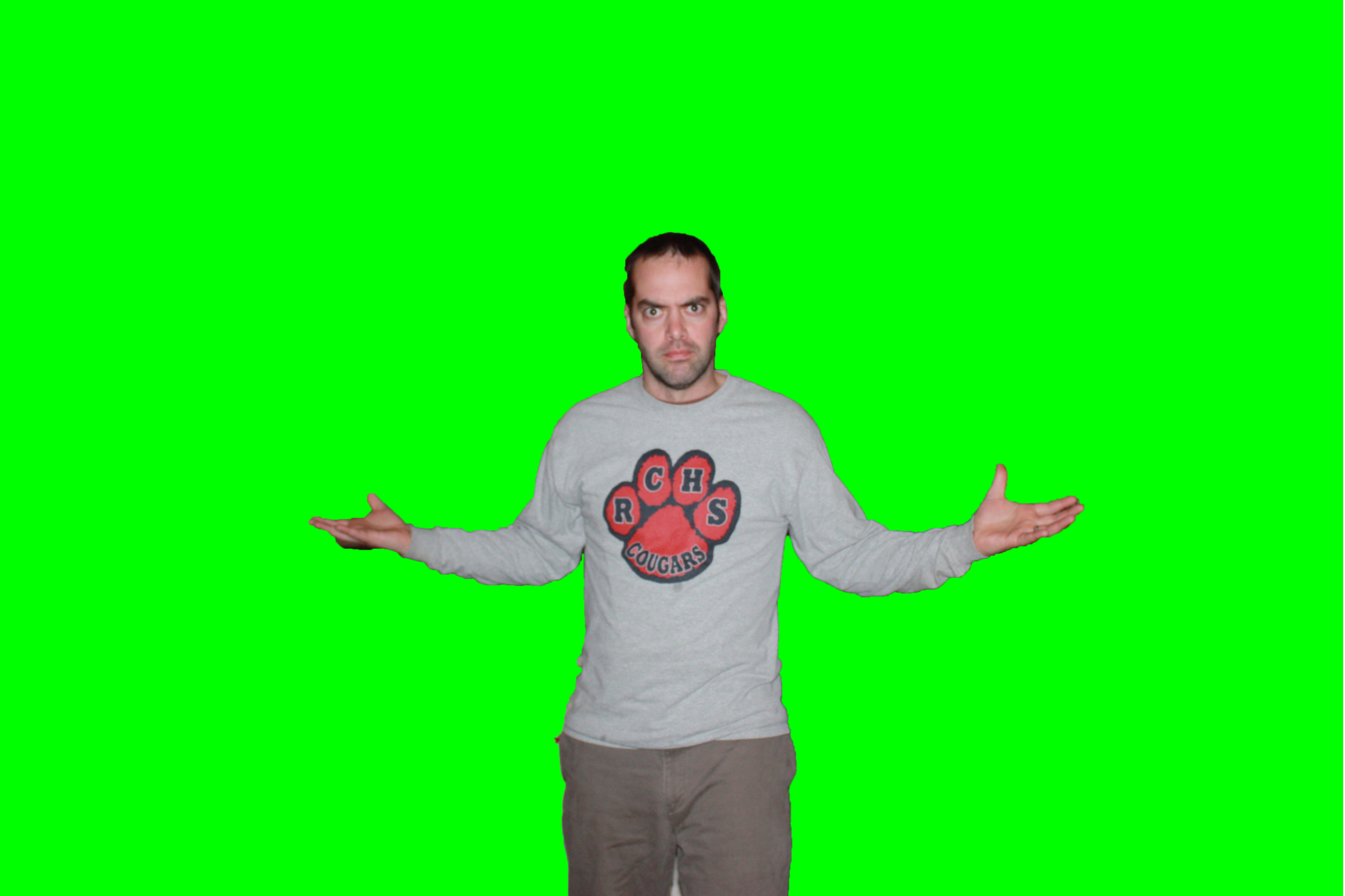 If you need an image to work on... Green Screen Smith