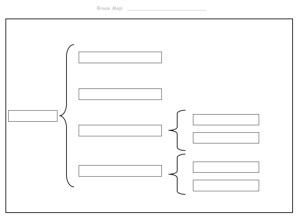 Thinking maps for Brace map template